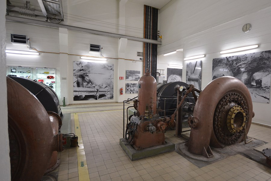 The internal generator room has original technical elements and historical information
