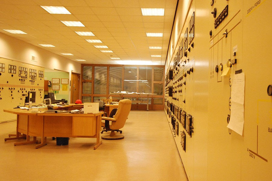 The original control room in Nedre Røssåga is no longer in use.