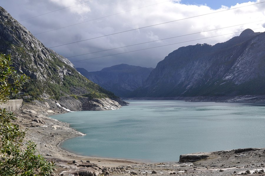 Lake Ringedalsvannet – intake to Oksla power plant.