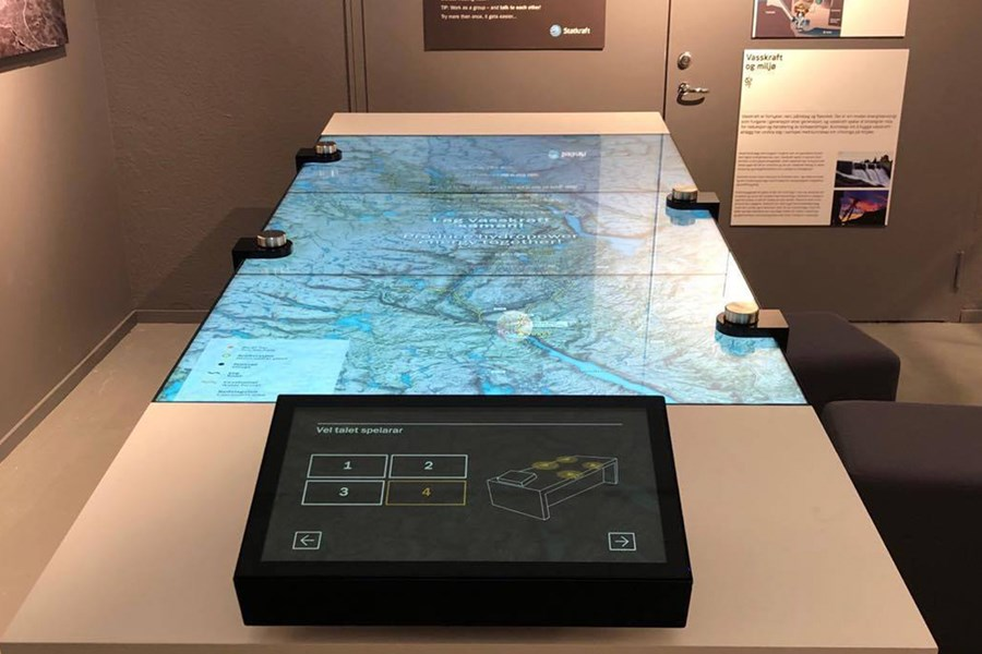 Interactive map at West Telemark Museum
