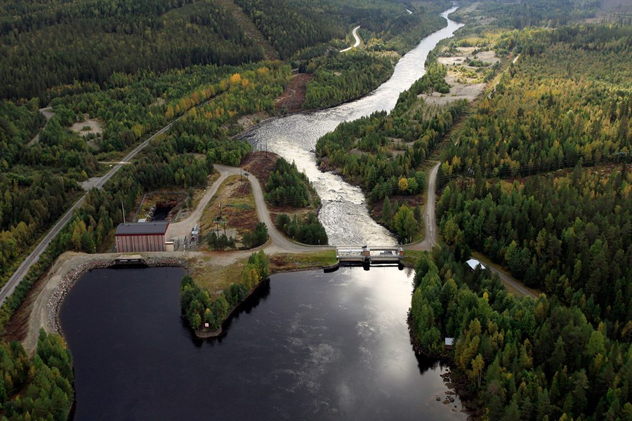 Hoting hydropower plant