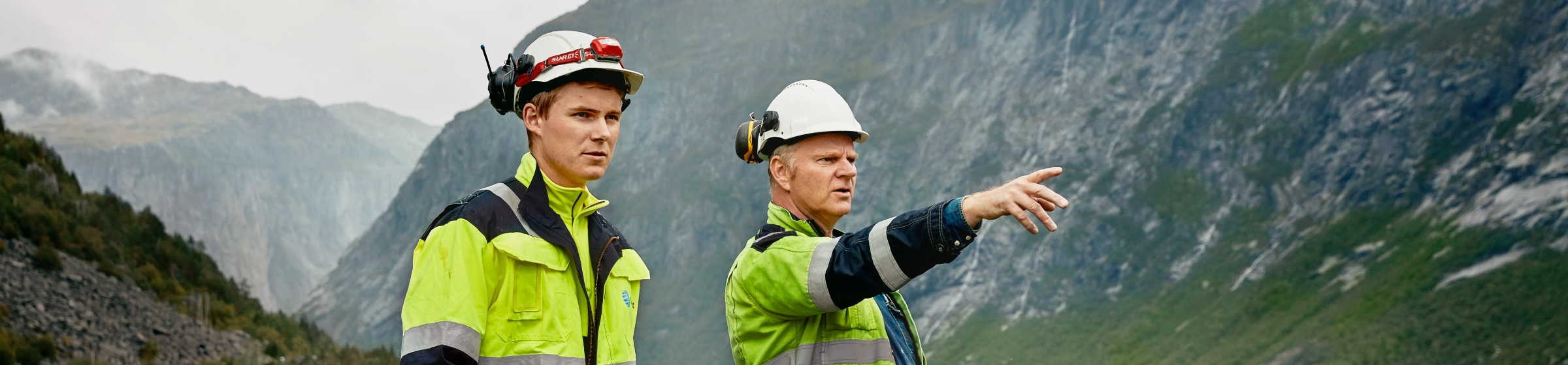 Statkraft employees at the Ringedals dam