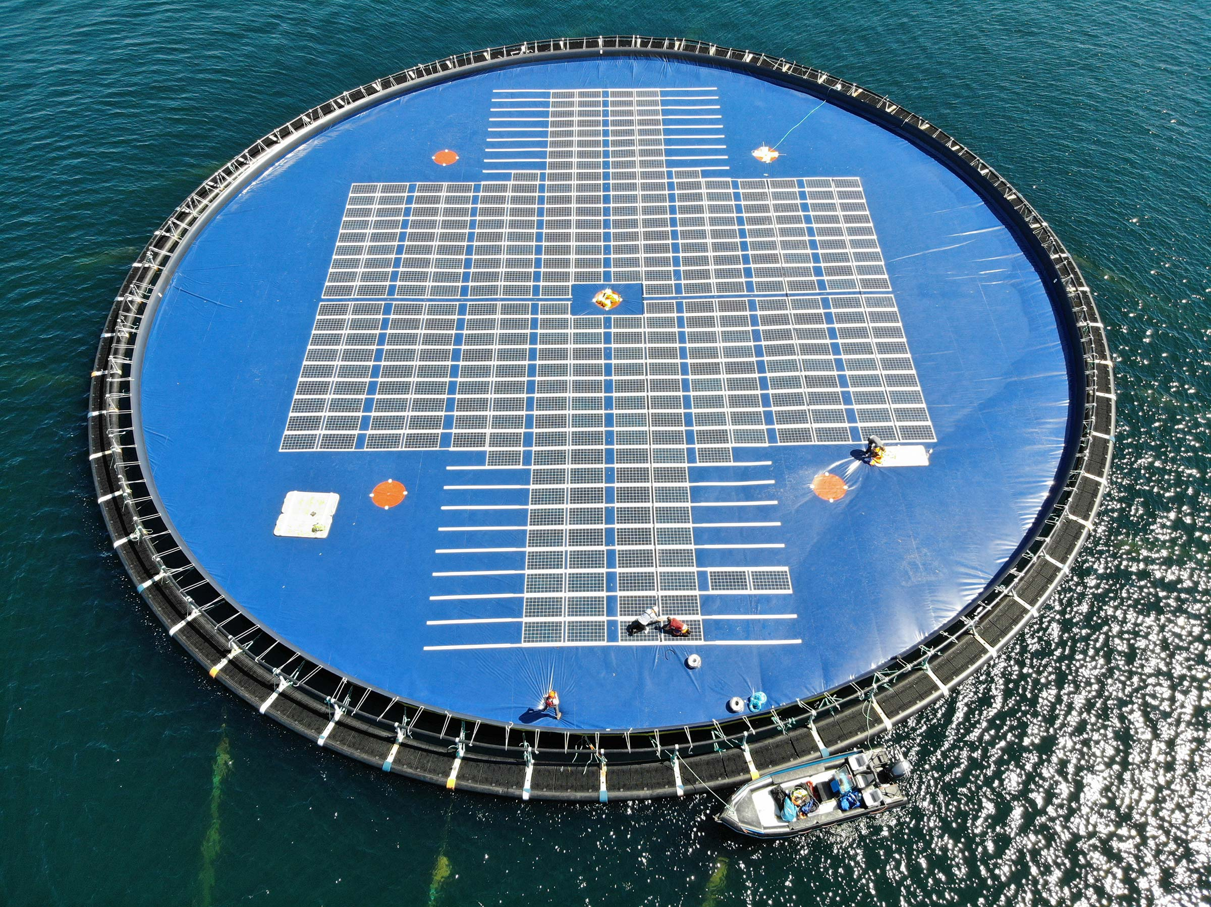 A floating solar PV unit