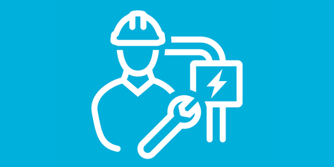 Icon representing our Life Saving rules for work with energised systems