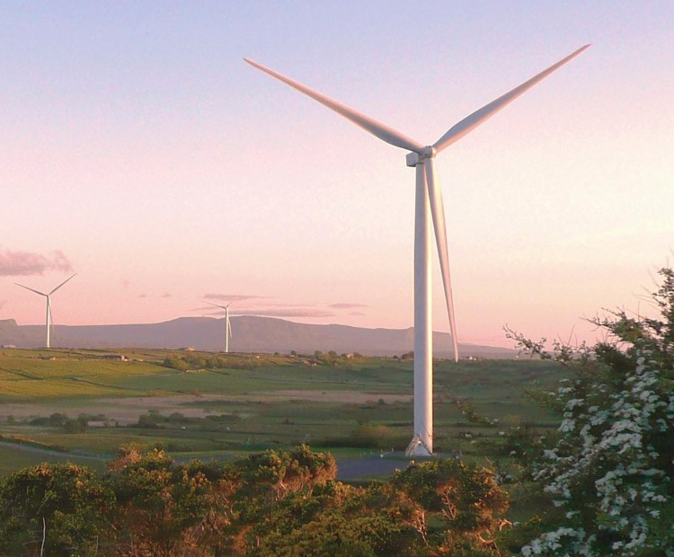 Wind turbines in Ireland