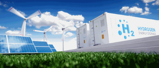 Solar panels, wind turbines and batteries