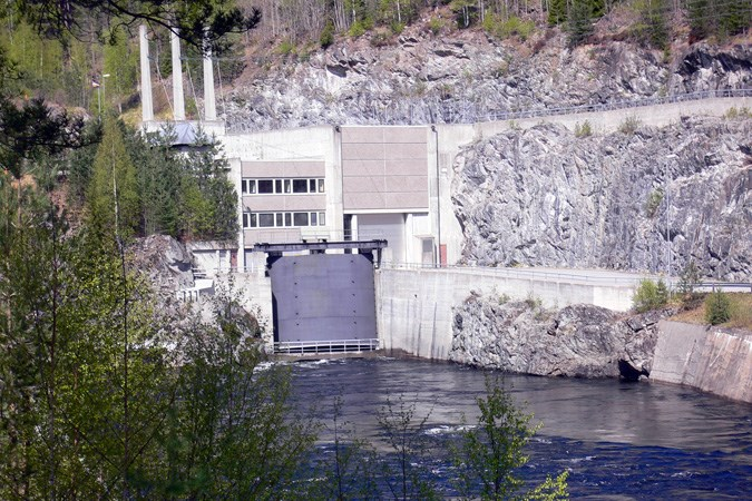 Årlifoss power plant in Notodden.