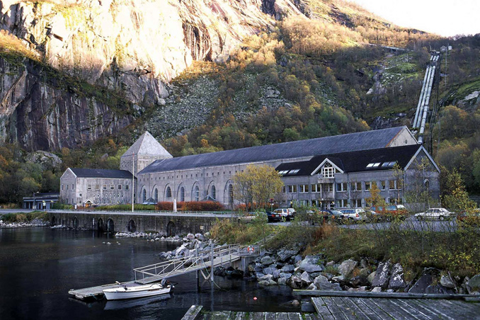 Glomfjord power plant.