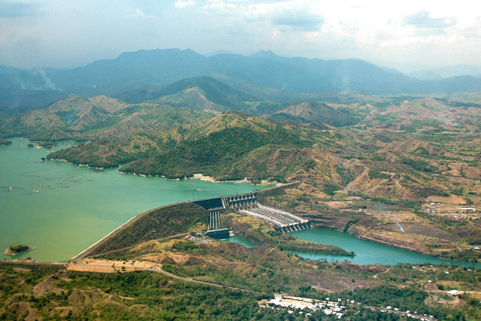 Magat power plant and dam.