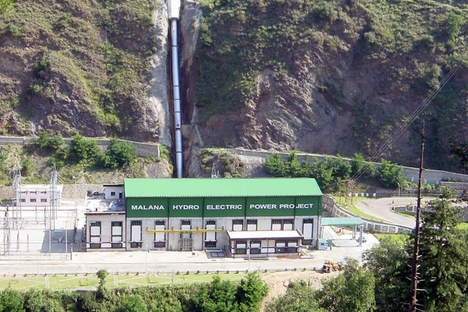 Malana hydropower plant in India.