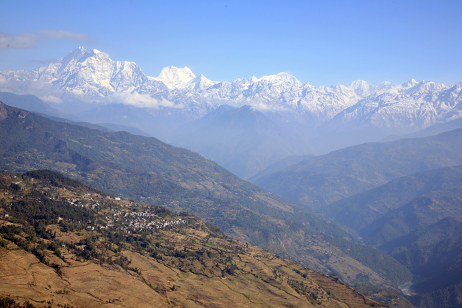 Mountains in Nepal.