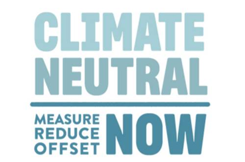 Banner for UN's climate neutral now