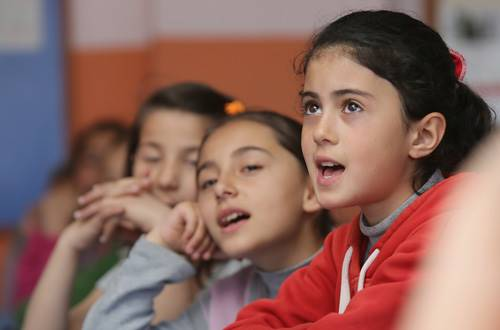 Children at school in Turkey