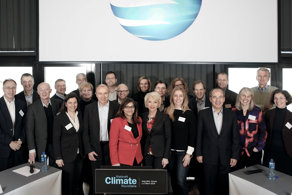 All participants at Statkraft's third Climate Roundtable