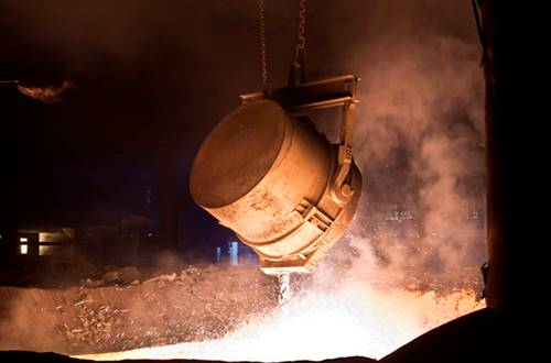 Picture from Finnfjord's ferro silicon smelter