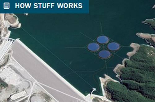 Floating solar plant in Albania