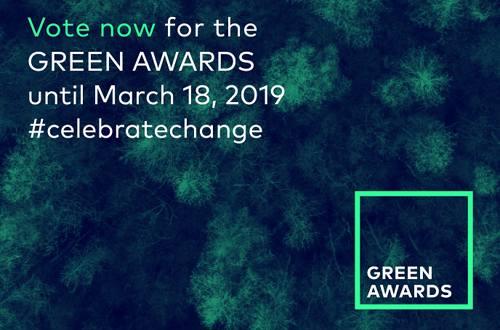Bnaner from Green awards