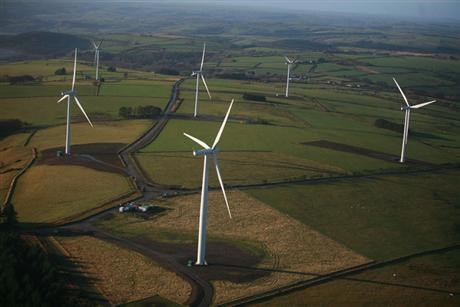 Alltwalis wind farm in Wales