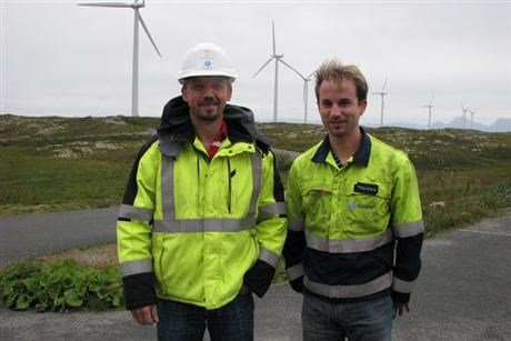 From left plant manager Arild Soleim with head of project Tobias Hüttner