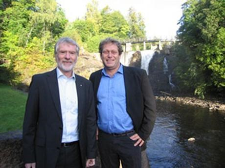 Bard Mikkelsen and Frederic Hauge during international climate meeting in Copenhagen
