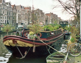 Canal boat in Amsterdam