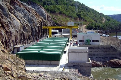 The Moinho hydropower plant.