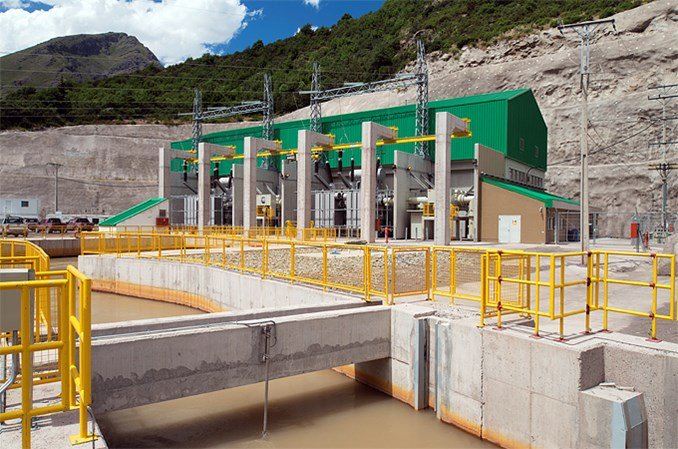 La Confluencia hydropower plants in Chile.​