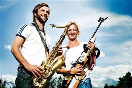 Jazz musician Jorgen Mathisen and biathlete Thekla Brun Lie