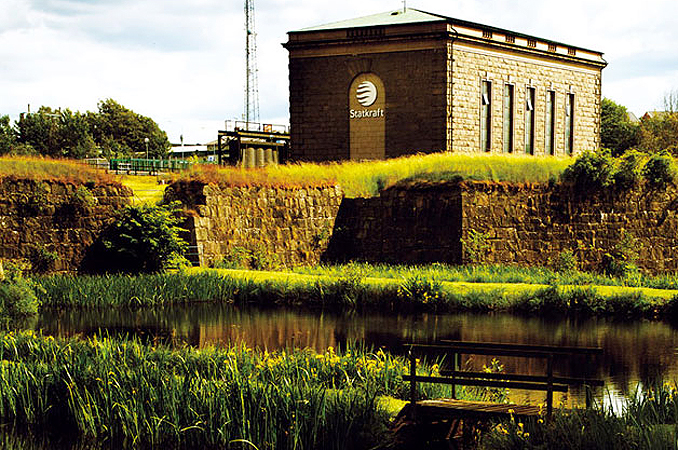 Visitor center in Laholm Sweden power plant