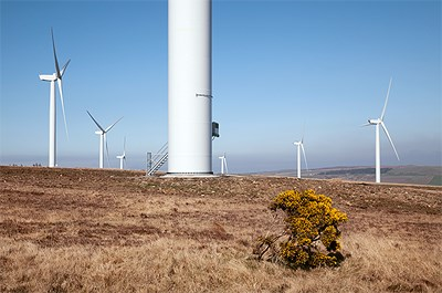 Baille Wind Farm in Scottish highlands