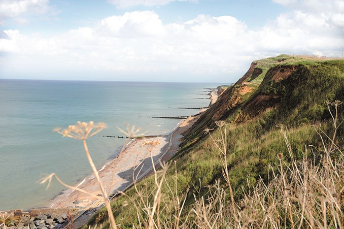 The coast off Cromer in North Norfolk