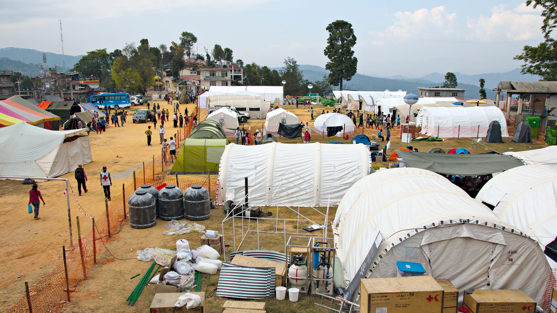 Temporary hospital in Nepal