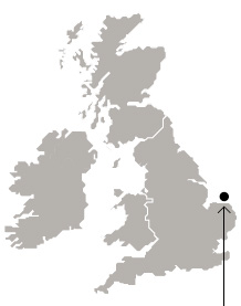 Map location of Sheringham Shoal