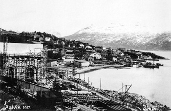 From the building of Bjølvo power plant in 1917.