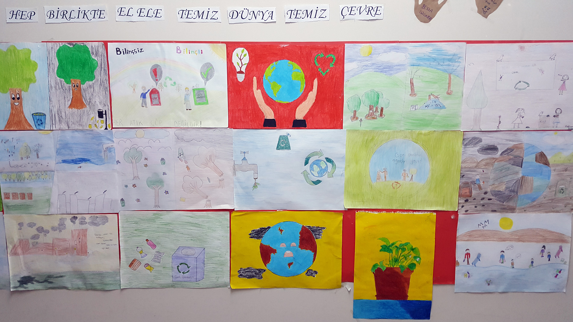 drawings made by school children