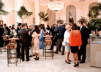 Participants at reception
