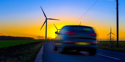 Car and wind turbine