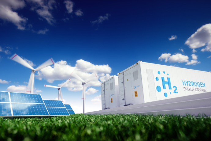 Hydrogen, wind turbines and solar cells