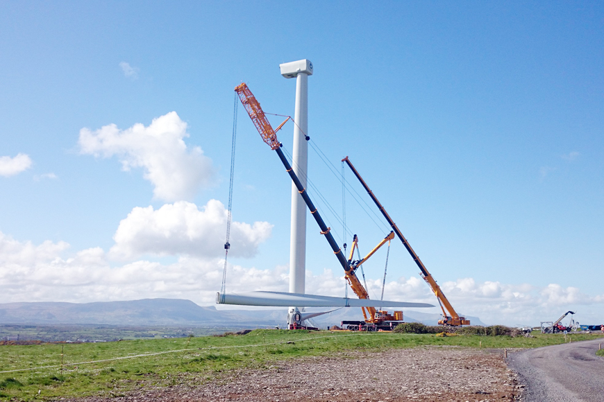 Construction of wind farm