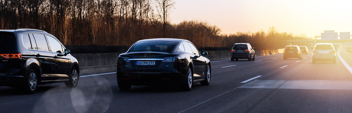 Tesla on the road