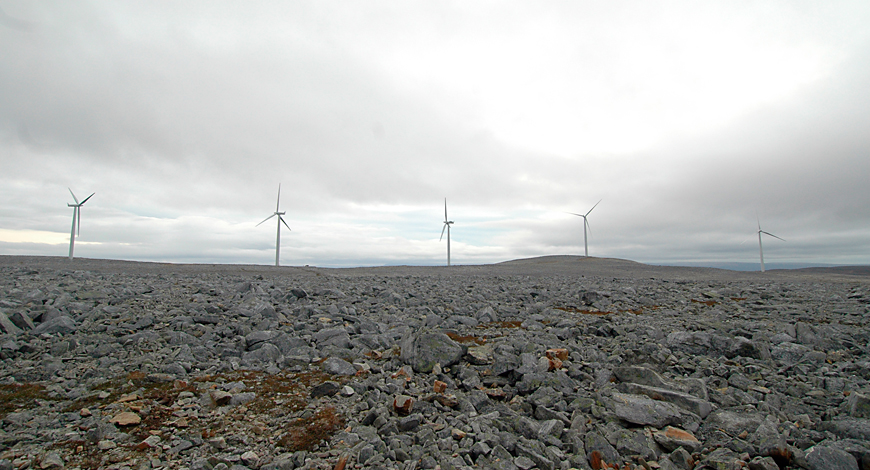 Wind farm in Finnmark County