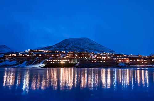 Longyerabyen at Svalbard