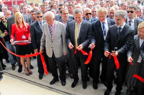 Turkeys Energy Minister Taner Yildiz officially opened Cakit power plant when the red ribbon was cut to give access to the brand new plant