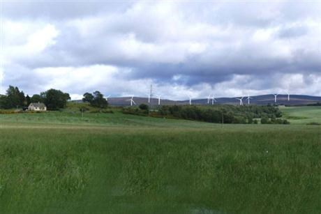 Onshore wind farm in Scotland