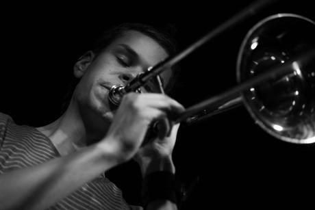 Trombone player and band leader Kristoffer Kompen